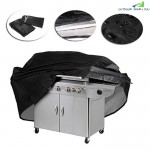 BBQ Cover Polyester Duty Waterproof Barbecue Grill Dust Rain Protector