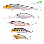 5PCS Colorful Hard Fishing Lure Bass Bait Kit