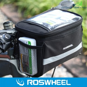 Roswheel 3.5L Bike Handlebar Bag Bicycle Front Tube Pocket 600D Map Pack Riding Cycling Supplies
