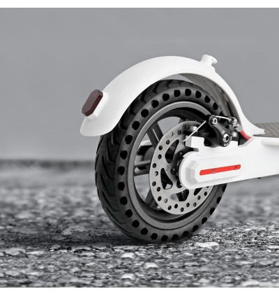 21cm Rubber Solid Rear Tire with Hollow Design for Xiaomi M365 Electric Scooter