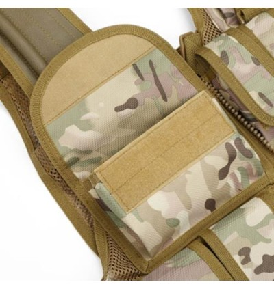Hunting Tactical Molle Paintball Combat Soft Vest (CP CAMOUFLAGE)