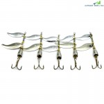 HENGJIA Rotating Sequin Reservoir Freshwater Fishing Bait 5pcs
