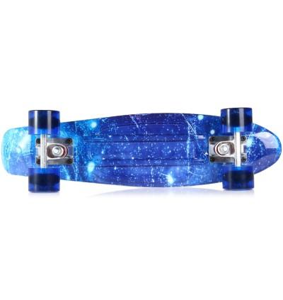 100kg Load Retro Skateboard Starry Sky Pattern Mini Board for Outdoor Sport
