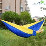 Portable Parachute Nylon Fabric Hammock for Two Person Lover Family Outdoor Travel Camping