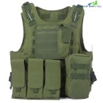 Amphibious Tactical Military Molle Waistcoat Combat Assault Plate Carrier Vest (ARMY GREEN)