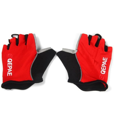 QEPAE Outdoor Sports Fingerless Gel Breathable Gloves with Take-off Rope