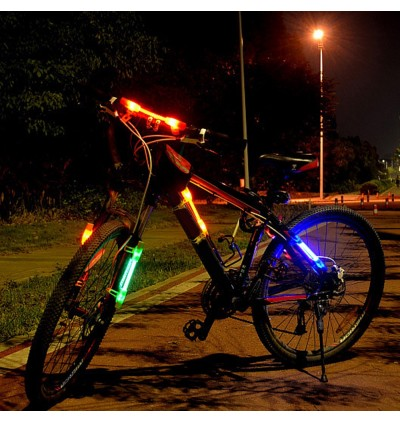 Practical Bike Bicycle Cycling LED Light Caution | Safe Tail Lamp for Night Riding Outdoor Camping(BLUE)