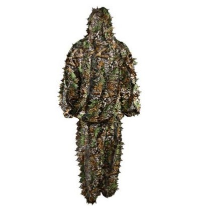 3D Leafy Camouflage Jungle Hunting Ghillie Bionic Suit Set Woodland Hunting Camo