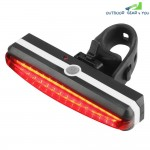 Ultra Bright Cyborg 168T USB Rechargeable Bicycle Tail Light Red High Intensit