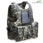 Amphibious Tactical Military Molle Waistcoat Combat Assault Plate Carrier Vest (ACU CAMOUFLAGE)
