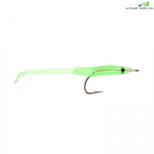 10PCS Soft Light Green Luminous Eel Fishing Lures Rubber Worm Bass Crank Lon