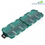 Fishing Lure Storage Box Tackle Mini Portable Waterproof 10 Compartments Tool
