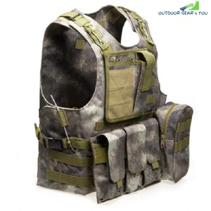 Amphibious Tactical Military Molle Waistcoat Combat Assault Plate Carrier Vest (FG CAMOUFLAGE)