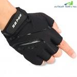 2PCS SAHOO Anti-slip Shock-absorbing Hydrofuge Half Finger Bicycle Gloves with GEL Pad