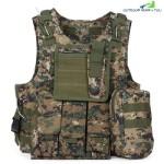Amphibious Tactical Military Molle Waistcoat Combat Assault Plate Carrier Vest (DIGITAL JUNGLE CAMOUFLAGE)