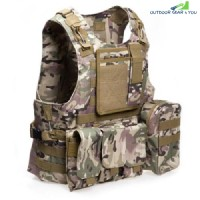 Amphibious Tactical Military Molle Waistcoat Combat Assault Plate Carrier Vest (CP CAMOUFLAGE)