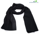 Breathable Scarf Mesh Shawl Muffler Outdoor Tool (BLACK)