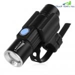CYCLE ZONE USB Rechargeable Bike Front Handlebar Flashlight