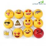 Dominant 12pcs Emoji Double Layer Practice Golf Ball