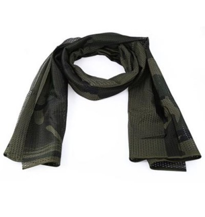 Breathable Scarf Mesh Shawl Muffler Outdoor Tool (JUNGLE CAMOUFLAGE)