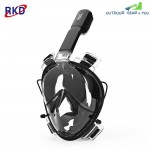 RKD Anti-fog Detachable Dry Snorkeling Full Face Mask Set