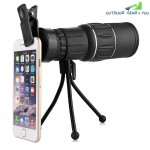 Portable Water-resistant 16 X 52mm Monocular Telescope with Mobile Phone Clip