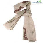 Breathable Scarf Mesh Shawl Muffler Outdoor Tool (THREE SAND CAMOUFLAGE)
