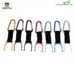 Aotu 5pcs Outdoor Camping Hiking Water Bottle Holder Carabiner Hook Clip (COLORMIX)