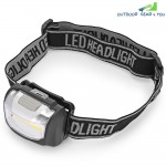 COB Headlight 3W Headlamp Camping Night LED High Power Torch