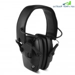 Tactical Headset Anti-noise Foldable Earmuff Microphone for Shooting Hunting