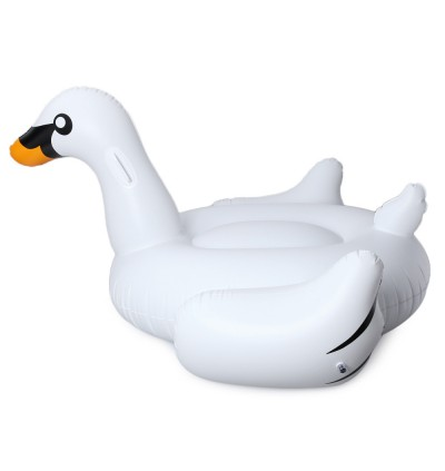 Inflatable Giant Swan Floating Rideable Swimming Pool Toy Float Raft
