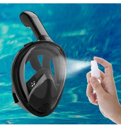 A - 1 Full Face Snorkel Mask with Anti-fog Design / 180-degree View for Adults (BLACK)