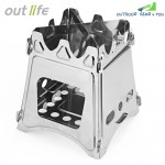 Outlife Portable Stainless Steel Lightweight Folding Stove