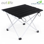 Outlife Lightweight Aluminum Alloy Mini Folding Table