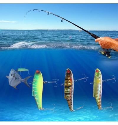 A FISH LURE Artificial Fish Shape Fishing Bait (MULTI-C)