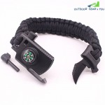 Adjustable Paracord Survival Bracelet Gear 500LB Outdoor Hiking Travelling