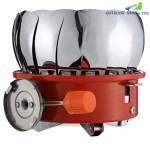 Outdoor Portable Snap-type Lotus Burner Camping Gas Stove