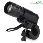 Q5 Waterproof 3W 140lm 3 Modes LED Bike Light Zoomable Flashlight with Torch Holder