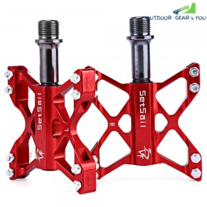 1 Pair SETSAIL 068 Mountain Bike Pedals Suitable BMX Flat with Butterfly Shape