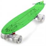 CL - 403 22 inch Transparent PC LED Retro Skateboard Longboard Mini Cruiser
