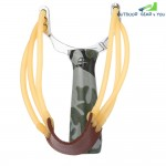 Zinc Alloy Outdoor Hunting Slingshot with Rubber Band
