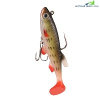 3D Eye Lead Artificial Soft Fishing Bait with Double Hook (MULTI-D)