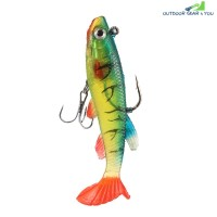 3D Eye Lead Artificial Soft Fishing Bait with Double Hook (MULTI-C)