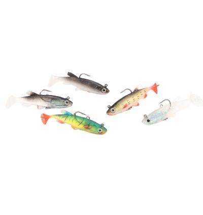 3D Eye Lead Artificial Soft Fishing Bait with Double Hook (MULTI-B)