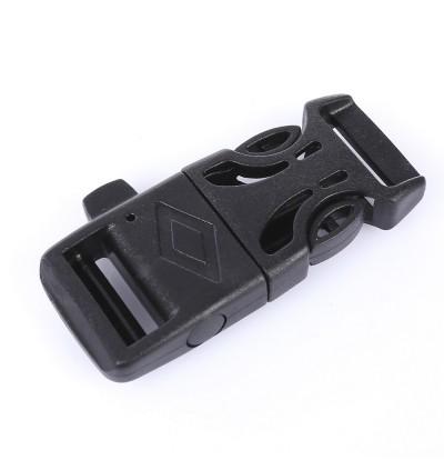 10pcs   Lot Multifunctional Paracord Plastic Bracelet Button Buckle Outdoor Survival Accessory(Black)