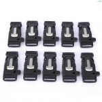 10pcs | Lot Multifunctional Paracord Plastic Bracelet Button Buckle Outdoor Survival Accessory(Black)