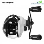 FISHDROPS Fishing Reel Bait Casting 6 + 1BB 6.3:1 Max Drag 5.5kg