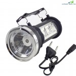 Three Button Portable Led Flashlight Solar Power Rechargeable for Hiking Camping