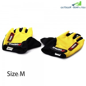2PCS Comfortable XL Size Bicycle Bike Silicone Half Finger Gloves Cycling Gloves