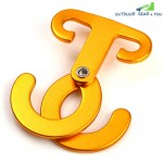 T Shape Aluminum Alloy Self-locking Carabiner Hook for Outdoor Safety Camping Hiking